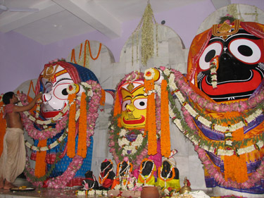 Installation of Sri Jagannatha at Bhaktivedanta Ashram