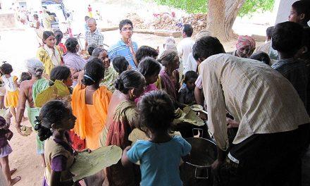 Food Distribution in Tadivada Village, Andhra Pradesh