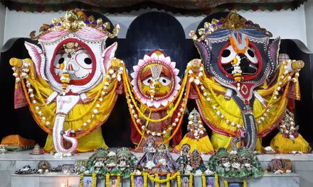 Pictures of Lord Jagannatha in Hati Vesha on Snana Purnima