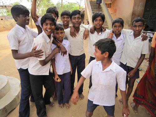Food Distribution in Potnuru Village School, Andhra Pradesh
