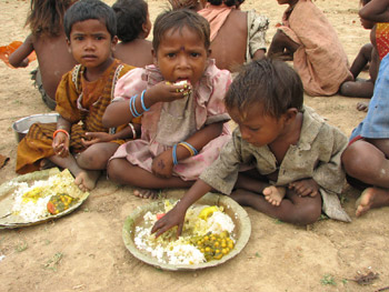 Food Relief Begins in Bagurai Leprosy Colony