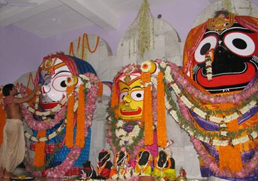 Installation of Sri Jagannatha at Bhaktivedanta Ashram